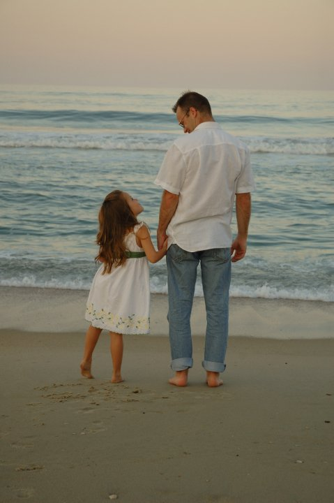 image of Dad & Daughter on seashore