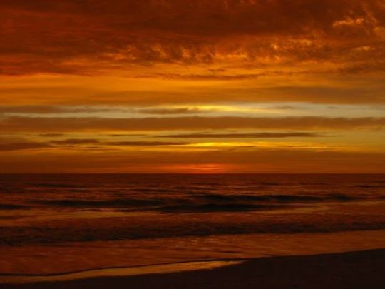 Image of Orange Ocean Sunset by Lyn Janssen