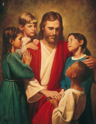 Image of Jesus and children