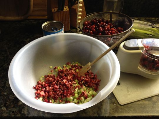 Image of preparation of Cranberry Salad