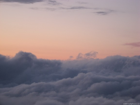 Image of clouds from above