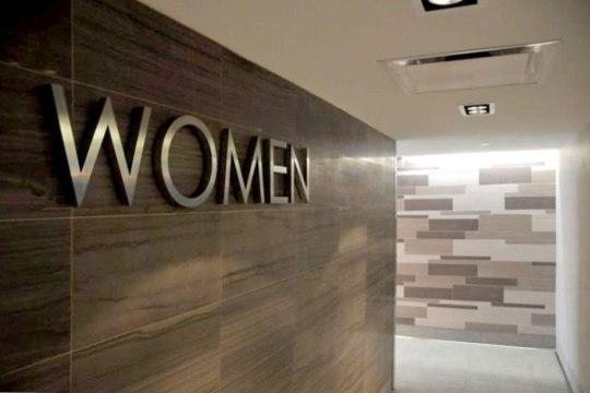 Image of Women's bathroom entrance