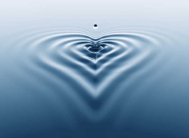 image of Water droplet, heart ripples