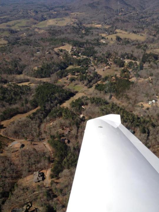 Land Under Plane Wing